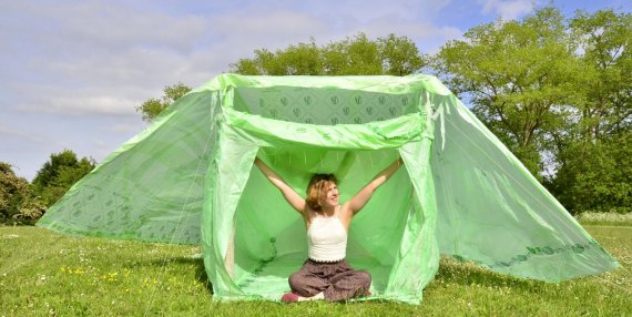 The tent will decompose in 120 days but is as comfortable strong waterproof and lightweight as tents used currently at festivals. & Entrepreneur Of The Week: Meet The Young Woman Making Compostable ...