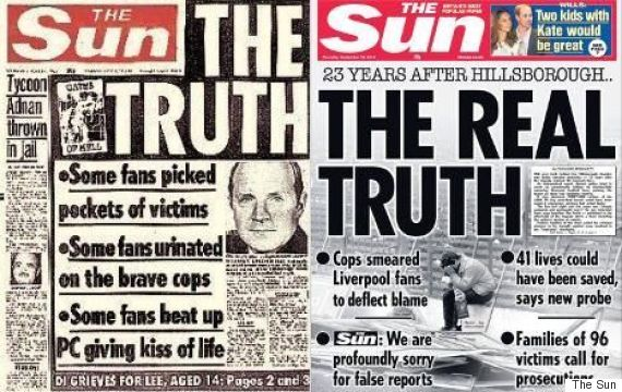 the sun front page hillsborough the truth