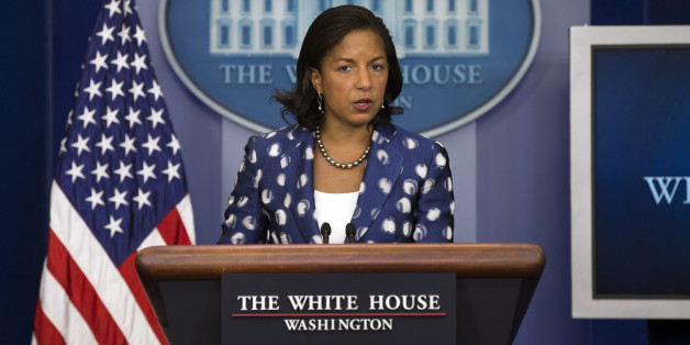 National Security Adviser Susan Rice talks about President Barack Obama's upcoming trip to Kenya and Ethiopia during the daily press briefing Wednesday, July 22, 2015, in Washington, at the White House. (AP Photo/Evan Vucci)