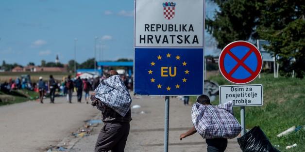 Flüchtlinge an der EU-Außengrenze zu Kroatien