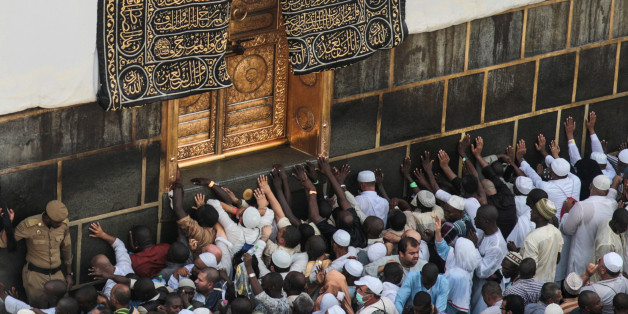 Muslim pilgrims pray at the Kaaba, the cubic building at the Grand Mosque in the Muslim holy city of Mecca, Saudi Arabia, Sunday, Sept. 20, 2015. More than 1 million pilgrims have already arrived for the annual hajj pilgrimage, which is required of every Muslim who can afford it and is physically able to make it. (AP Photo/Mosa'ab Elshamy)