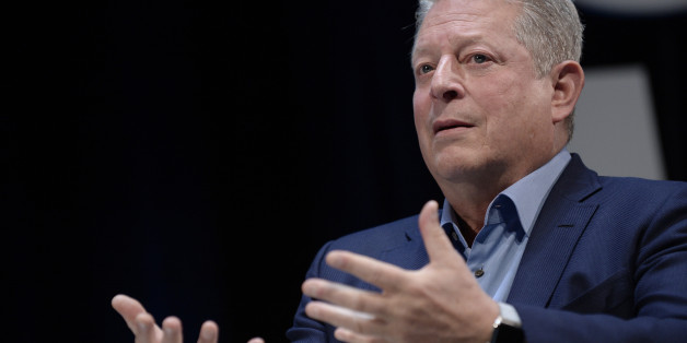 CANNES, FRANCE - JUNE 26:  Al Gore talks on stage during the WPP seminar as part of the Cannes Lions International Festival of Creativity on June 26, 2015 in Cannes, France.  (Photo by Francois G. Durand/Getty Images)