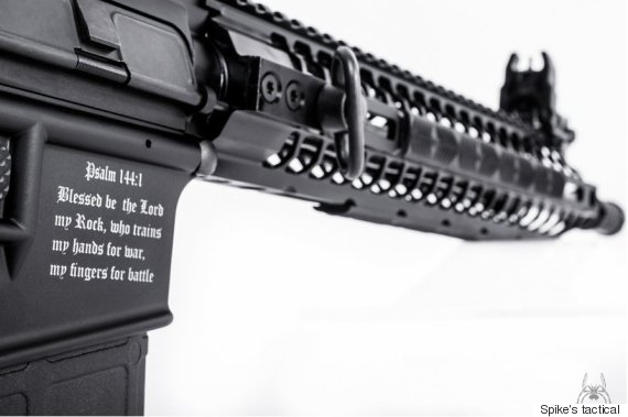 assault rifle with bible verse