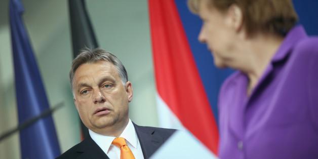 Der ungarische Staatschef Viktor Orban bei einem Besuch in Berlin