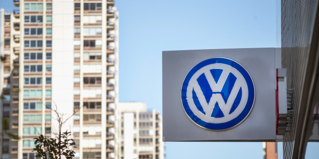 CHICAGO, IL - SEPTEMBER 22:  A sign marks the location of a Volkswagen dealership on September 22, 2015 in Chicago, Illinois. The Environmental Protection Agency (EPA) has accused Volkswagen of installing software on nearly 500,000 diesel cars in the U.S. to evade federal emission regulations. The cars in question are 2009-14 Jetta, Beetle, and Golf, the 2014-15 Passat and the 2009-15 Audi A3. As many as 11 million cars worldwide could be affected by the deception.  (Photo by Scott Olson/Getty Images)