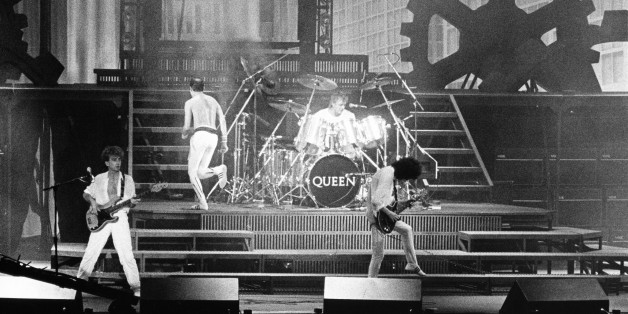 (GERMANY OUT) Queen - Rockband, GB  - Konzert in Bruessel  (Photo by Brill/ullstein bild via Getty Images)
