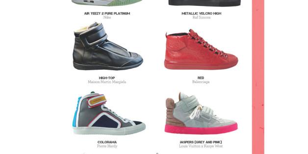 Der Sneaker oder Turnschuh hat sich über Jahrzehnteverändert.