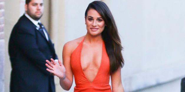 Lea Michele zeigte sich auf dem Weg von einer Talkshow besonders sexy und stylisch