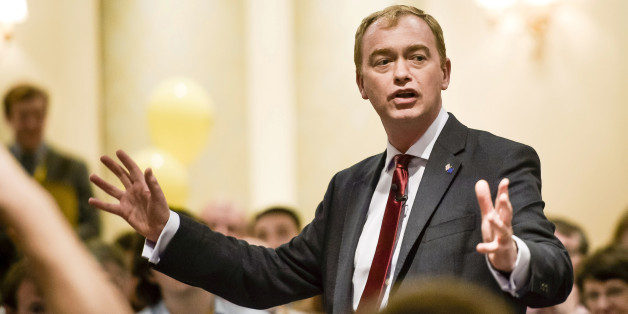 Leader of the Liberal Democrats, Tim Farron, speaks at a fringe event to launch the EU Referendum campaign at the Liberal Democrats annual conference at the Bournemouth International Centre.
