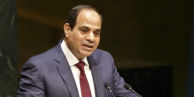 Abdel Fattah Al Sisi, President of Egypt, speaks during the 69th session of the United Nations General Assembly at U.N. headquarters, Wednesday, Sept. 24, 2014. (AP Photo/Seth Wenig)