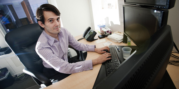 Martin Shkreli, chief investment officer of MSMB Capital Management, sits for a photograph in his office in New York, U.S., on Wednesday, Aug. 10, 2011. MSMB made an unsolicited $378 million takeover bid for Amag Pharmaceuticals Inc. and said it will fire the drugmaker's top management if successful. Photographer: Paul Taggart/Bloomberg via Getty Images ***Local Caption ** Martin Shkreli