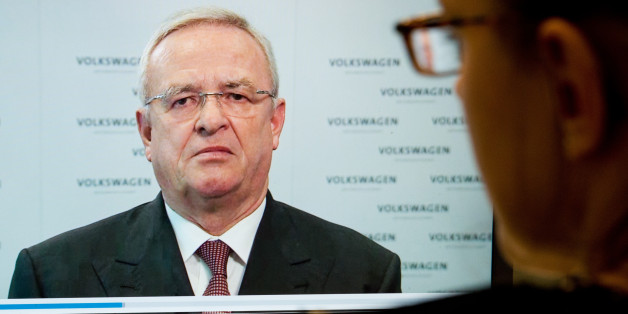 A woman watches a video statement by Volkswagen AG  CEO Martin Winterkorn, on the company's website, in Hanover, Germany,  Tuesday Sept. 22, 2015. Winterkorn  apologized   for the manipulations  of  VW  diesel cars  in the U.S. to defeat  emission tests , and promised    a fast and thorough investigation. (Julian Sratenschulte/dpa via AP)