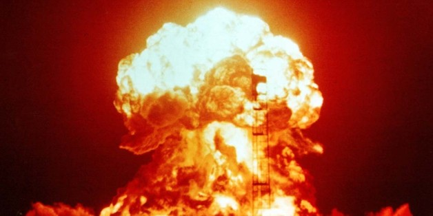 XX-34 BADGER (yield 23 kt) - an atmospheric nuclear test performed by the U.S. on 18April 1953 as part of Operation Upshot-Knothole at the Nevada Test Site.  Image in the public domain Image: U.S Government