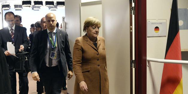 Bundeskanzlerin Angela Merkel beim Sondergipfel in Brüssel