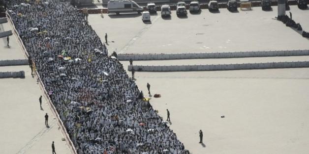 Des pelerins musulmans à Mina, près de la Mecque