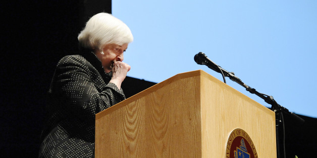 Fed-Chefin Yellen musste eine Rede wegen Dehydrierung unterbrechen