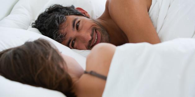 Richard & Kirstin sleeping in bed 0078