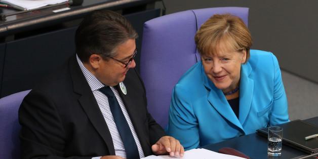 Kanzlerin Merkel macht ein Selfie