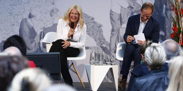 Barbara Schöneberger im Gespräch mit Stephan Schäfer beim Innovationstag 2015 in München