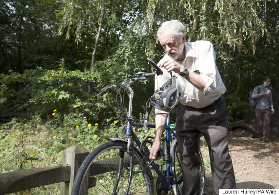 jeremy corbyn bicycle