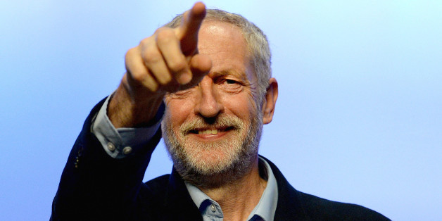 BRIGHTON, ENGLAND - SEPTEMBER 15:  Labour party leader Jeremy Corbyn addresses the TUC Conference at The Brighton Centre on September 15, 2015 in Brighton, England.  It was Mr Corbyn's first major speech since becoming leader of the party at the weekend. (Photo by Mary Turner/Getty Images)