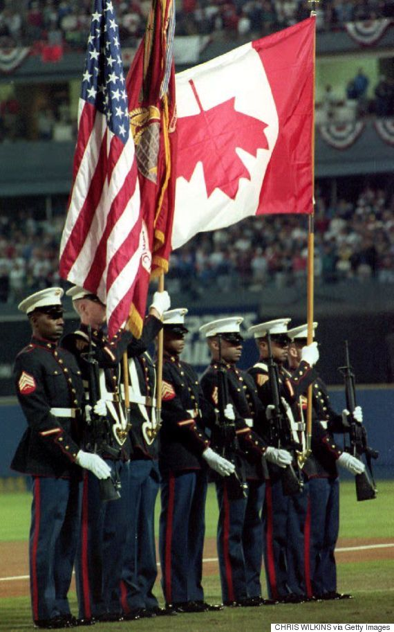 world series canadian flag