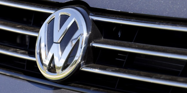 The grille of a Volkswagen car for sale is decorated with the iconic company symbol at a VW dealership in Boulder, Colo., Thursday, Sept. 24, 2015. Volkswagen is reeling days after it became public that the German company, which is the world's top-selling carmaker, had rigged diesel emissions to pass U.S. tests. (AP Photo/Brennan Linsley)