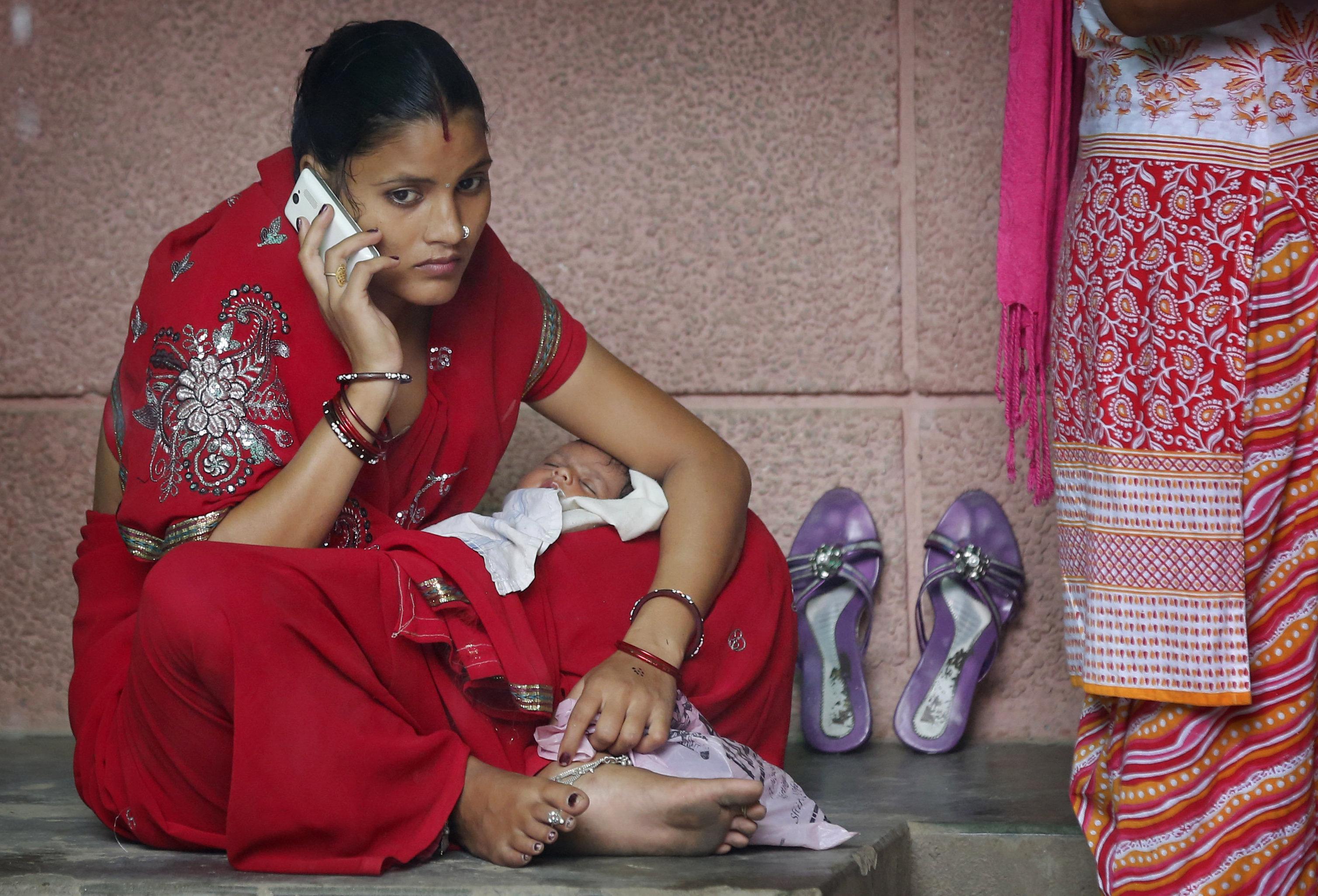 indian children phone modi