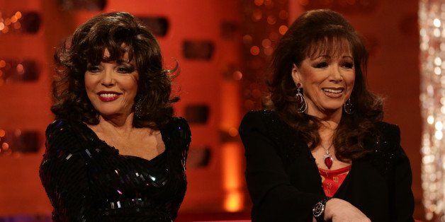 Joan (left) and Jackie Collins
