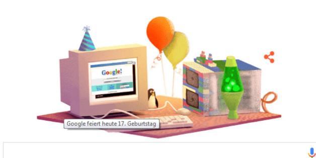 Mit diesem Doodle feiert Google Geburtstag