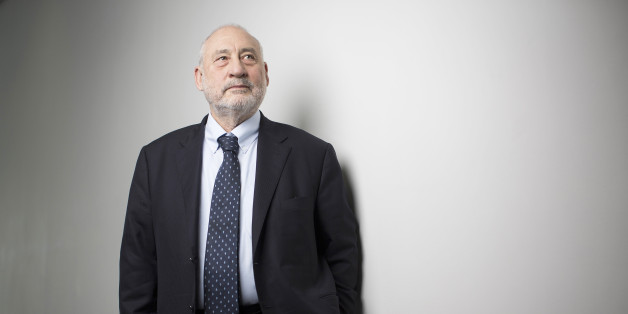 Joseph Stiglitz, Nobel prize-winning economist and professor of economics at Columbia University, poses for a photograph following a Bloomberg Television interview in London, U.K., on Tuesday, May 19, 2015. Stiglitz said, Greece's giving up the euro would be 'really serious' for Europe. Photographer: Simon Dawson/Bloomberg via Getty Images