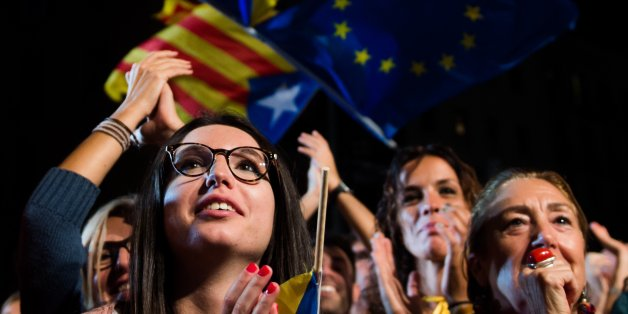 Anhänger der Separatisten in Katalonien
