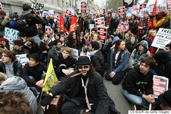 student tuition fees protest 2010 london