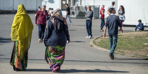 Frauen in Flüchtlingsheim