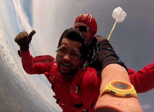 pratap simha bjp skydiving mysuru