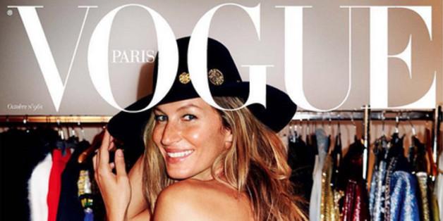 """Gisele Bündchen trägt auf dem """"Vogue""""-Cover nur ein Unterhöschen."""