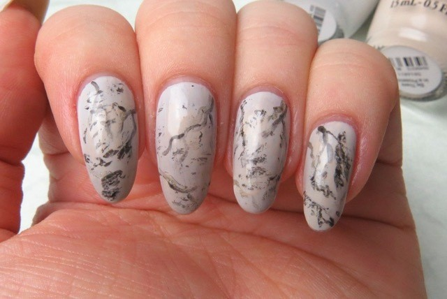 Manimonday simple marble stone nail art top everything off with a top coat so that the design lasts for days marble nail art prinsesfo Choice Image