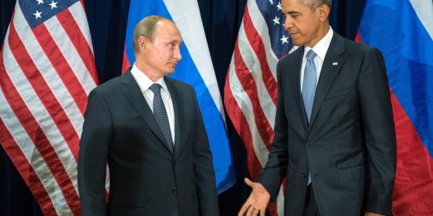 Sie scheinen sich kaum die Hand reichen zu wollen: Putin und Obama