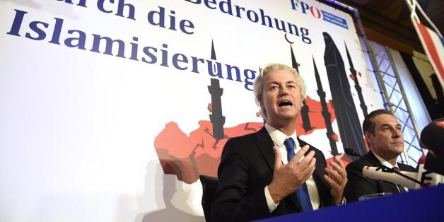 Rechtspopulist Geert Wilders zu Besuch bei der FPÖ in Östereich