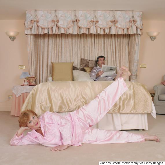 woman pyjamas exercise