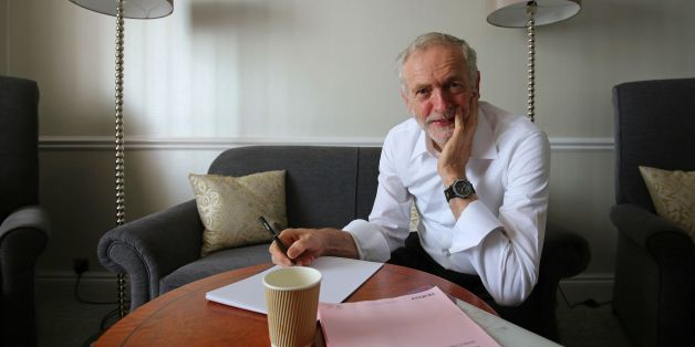 PLEASE NOTE: RETRANSMITTED DUE TO LIFTING OF EMBARGO Labour Party Leader Jeremy Corbyn prepares for his first leader's speech in his hotel room in Brighton during the annual Labour Party conference at the Brighton Centre, Sussex.