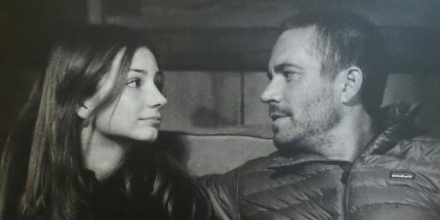 Meadow Walker und ihr Vater Paul auf einem alten Schnappschuss