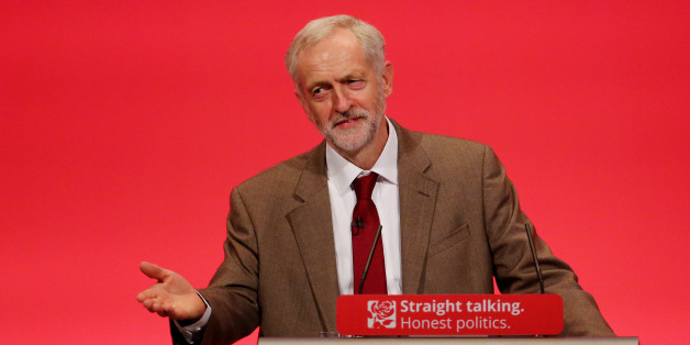 Labour Leader Jeremy Corbyn delivers his first keynote speech during the third day of the Labour Party conference at the Brighton Centre in Brighton, Sussex.