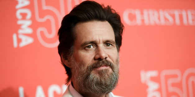 FILE - In this April 18, 2015 file photo, Jim Carrey arrives at LACMA's 50th Anniversary Gala in Los Angeles. Carrey says he was shocked and saddened to learn of the death of ex-girlfriend Cathriona White, likening the news to being hit by a lightning bolt. The 30-year-old makeup artist was found dead in her Sherman Oaks apartment on Monday, Sept. 28, according to the Los Angeles County Coroner's Office. Her death is being investigated as a possible suicide in the ongoing case with an exami
