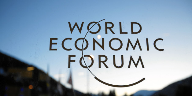 DAVOS/SWITZERLAND, 23JAN11 - The WEF logo is seen on a window at the congress center during preparations for the upcoming Annual Meeting 2011 of the World Economic Forum in Davos, Switzerland, January 23, 2011.