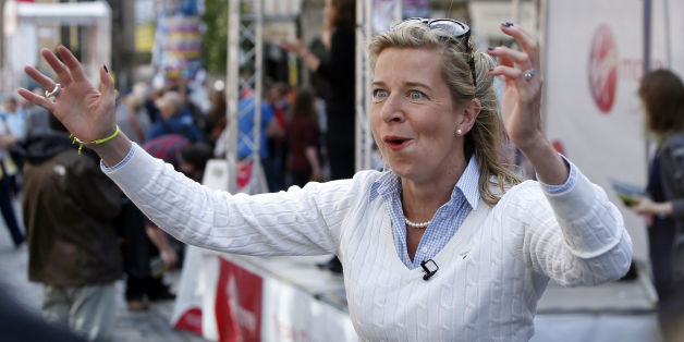 Katie Hopkins on the Royal Mile in Edinburgh during the Edinburgh Festival Fringe.