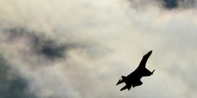 Un avion de chasse de l'armée russe dans le ciel de Moscou, le 27 août 2013