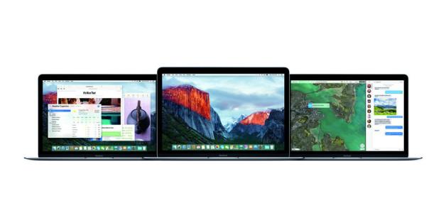 OS X 10.11 El Capitan auf dem MacBook.