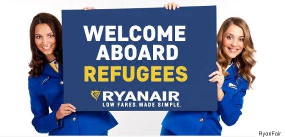 ryanair refugees
