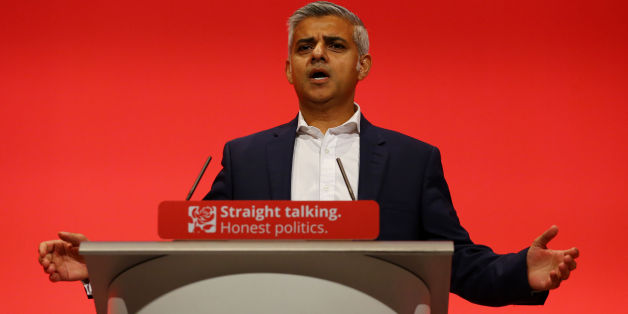Sadiq Khan, Labour London Mayoral Candidate, delivers his speech on the final day of the Labour Party annual conference at the Brighton Centre in Brighton, Sussex.